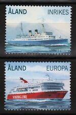 Expédié PASSAGER Ferries Lot de 2 MNH Timbres 2009 ALAND #288-9