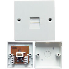 BT Telephone Line Extension Socket Wall Plate 2/3C - Left Handed 430A 630A Plugs