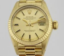 ROLEX OYSTER PERPETUAL DATEJUST LADIES 18K GOLD 6917