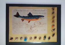 New listing Vintage lot of 16 fishing flies on display card