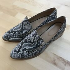 Trenery Womens Loafer, Size 39, Leather Snake Shoes - Made in India