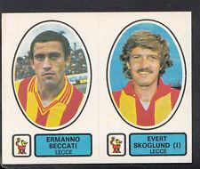 PANINI CALCIATORI FOOTBALL Adesivo 1977-78, N. 442, Lecce-Ermanno Beccati