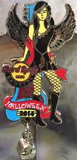 Hard Rock Cafe BANGKOK 2014 HALLOWEEN PIN Sexy Winged Girl w/ Skull - HRC #79946