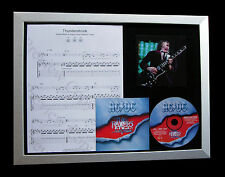 AC/DC Thunderstruck LIMITED GALLERY QUALITY CD FRAMED DISPLAY+FAST GLOBAL SHIP
