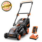 Cordless Electric Lawn Mower 40V Battery & Charger Included Push Lawnmower NEW