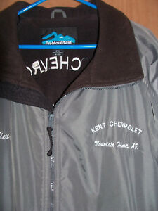 Size XXL Cadillac Dealership Men's Coat Jacket Gray Chevy Chevrolet GM Car 2XL