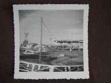 Kids / Childs Roller Coaster At Fair Grounds Vtg 1955 Abstract Photo