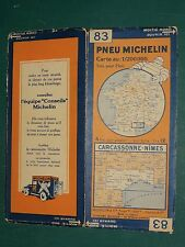 Carte MICHELIN n° 83 Carcassonne Nîmes 1931
