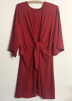 Select Size 14 Red Tie Front Detail Tunic Top Dress