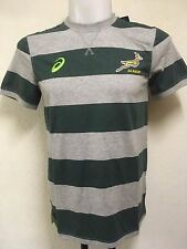 SOUTH AFRICA SPRINGBOKS RUGBY STRIPED TEE SHIRT BY ASICS ADULTS LARGE BRAND NEW