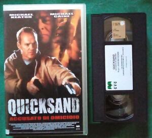 VHS Film Ita Azione QUICKSAND John Mckenzie Michael Keaton ex nolo no dvd (V68)