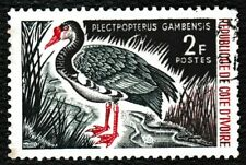 1965 Côte d'Ivoire (Ivory Coast) 'Spur-Winged Goose' Bird Stamp 2F - Used / Good
