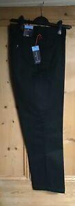 Brand New Men's M&S Dark Green Chino Trousers Sizes 38S to 42S