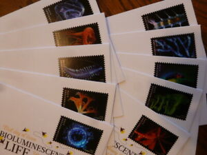 All TEN! Brand New First Day Covers Bioluminescent Life