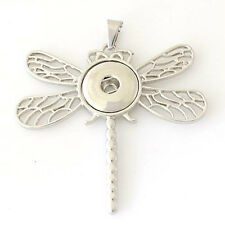 Dragonfly Necklace Magnolia Vine 18mm Fits Gingersnap Ginger Snap Snaps Pendant