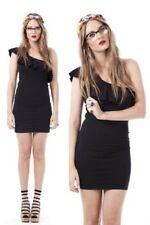One Teaspoon Asos Shoulder Frill Stretch Bodycon Cocktail Party Mini Dress 10 38