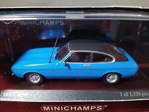 RARE FORD CAPRI MKII BLUE 1974 MINICHAMPS 400081206 1/43 LIMITED EDITION