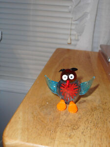 Fitz & Floyd Sunny Glass Owl Figurine, Glass Menagerie Collection