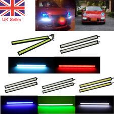2X LED Strip Car DRL Running Daytime Light COB Driving Fog Lights Waterproof UK
