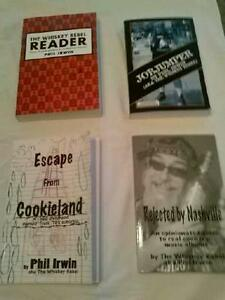 Books by Phil Irwin (aka the Whiskey Rebel).Jobjumper, Escape from Cookieland +2