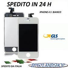 TOUCH SCREEN+LCD DISPLAY RETINA + FRAME PER APPLE IPHONE 4S VETRO SCHERMO BIANCO