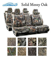 Coverking Custom Seat Covers Neosupreme Front and Rear Row Row - Solid Mossy Oak