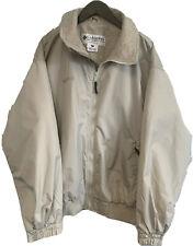 Columbia Mens Large Beige Fleece Lined Full Zip Bomber Jacket NWOT