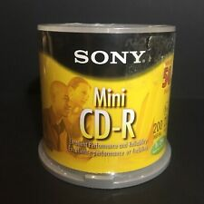 SONY MINI CD-R 50 Pack Spindle NEW SEALED