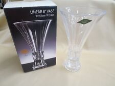 Godinger Linear 8 In Vase 24% Lead Shannon Ireland Crystal Czech Republic In Box