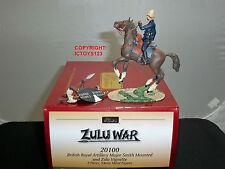 BRITAINS 20100 ZULU WAR BRITISH ROYAL ARTILLERY MAJOR SMITH MOUNTED + WARRIOR