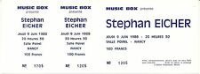 RARE / TICKET DE CONCERT LIVE - STEPHAN EICHER A NANCY - JEUDI 9 JUIN 1988