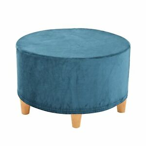 Round Ottoman Slipcover Footstool Protector Covers Storage Stool Stretch Cover