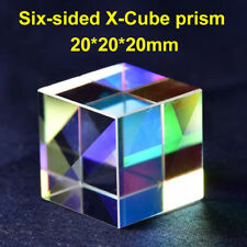 20mm Six-sided Cube Cross Dichroic Prism RGB Combiner Splitter Glass Decoration