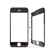 Black iPhone 5C Front Glass Outer Lens Touch Screen Cover With Frame Bezel
