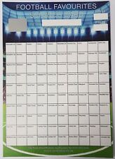 A4 100 TEAM FOOTBALL SCRATCH CARD FOR FUNDRAISING CHARITY EVENTS ETC 100 SPACES!