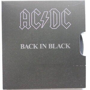 AC/DC 2020  COLOURED 20 CENTS BACK IN BLACK UNC COIN (Sc45/K5)
