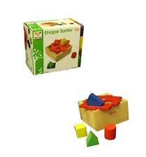 Children 6 piece Wooden Shape Sorter Sorting Blocks Box Kids Educational Puzzle