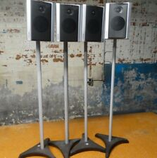 TOSHIBA V65HTS Home Theater Speakers lot of 4 With Omni Stands