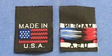 25Pcs Made In U.S.A Black Woven Garment Clothing Sewing Label American Flag
