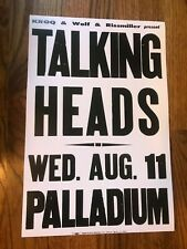"The Talking Heads 1982 Palladium Concert Cardstock Poster 12"" x 18"""