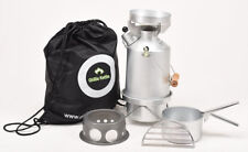 Ghillie Kettle 1.0L Explorer Silver Anodised Full Kit + Hobo Stove