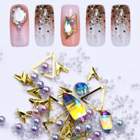 Bunte Beads Pearl Multi-size 3D Nail Art Strasssteins Studs Manikure Dekoration