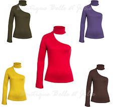 Figurbetonte taillenlange Langarm Damenblusen, - tops & -shirts ohne Muster