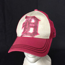 Detroit Tigers New Era 9Forty Youth Sequined Pink White Snapback Baseball Hat
