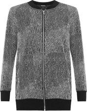 Cappotti e giacche da donna grigia con lunghezza ai fianchi, taglia 46