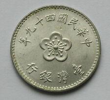 1960 (Year 49) TAIWAN (Republic of China) Coin - 1 Yuan -