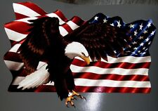 """Flag & Eagle Vinyl Decals for Boat Car Truck 7"""" x 10"""" 3m REFLECTIVE Right facing"""