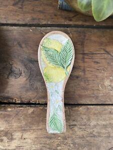 Majolica Lemon Spoon Rest
