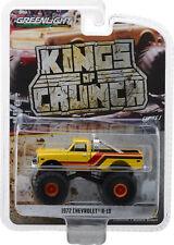 1972 Chevrolet K10  Monster Truck Yellow ** Greenlight Kings of Crunch 1:64 NEU