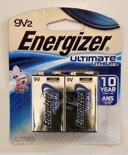 4 Energizer Ultimate Lithium Batteries 9V (2 two packs)  Exp. 12/2027